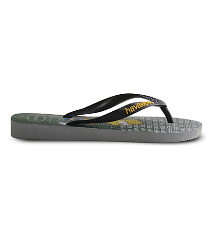 HAVAIANAS Simpsons printed rubber flip-flops (Ice+grey