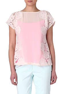 TED BAKER Chasity lace-detail top