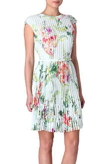 TED BAKER Wallpaper floral pleated dress