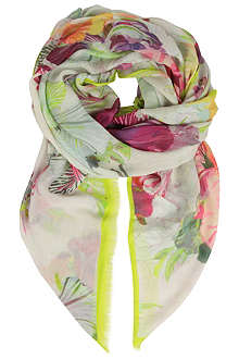 TED BAKER Treasured orchid scarf