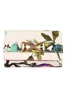 TED BAKER Paisie summer floral bow clutch