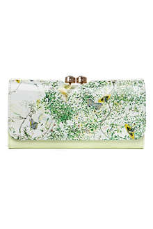 TED BAKER Dancing Leaves printed purse