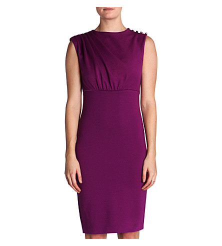 TED BAKER Bridie pleated dress (Fuchsia