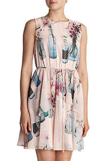 TED BAKER Chelsie water bottle print dress