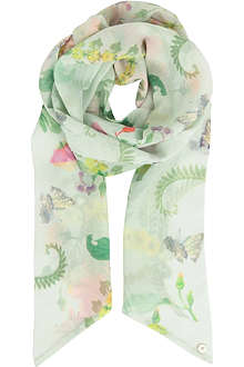 TED BAKER Wallpaper print scarf