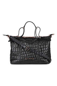 TED BAKER Crocett embossed mini tote