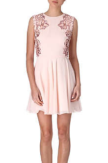 TED BAKER Russi beaded mesh dress