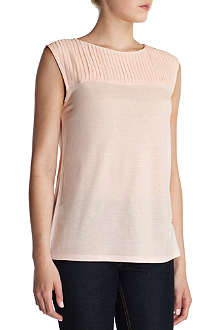 TED BAKER Eyma pleated neck top