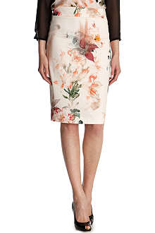 TED BAKER Liliyah floral-print pencil skirt