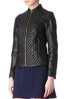 TED BAKER Nyssie leather jacket