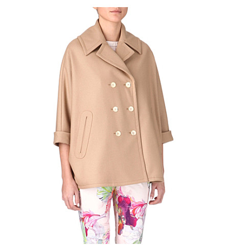 TED BAKER Laaris double-breasted cape (Camel