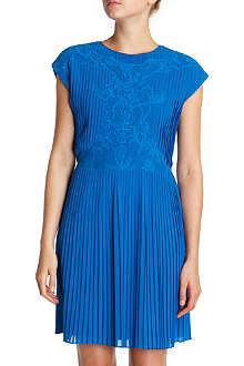 TED BAKER Saskiah lace pleated dress