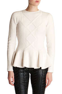 TED BAKER Peplum detail jumper