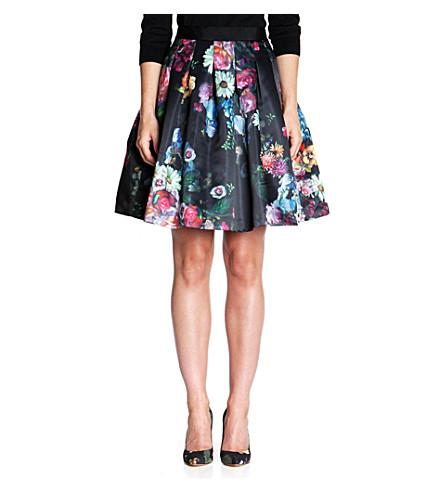 TED BAKER Flowtii oil painting skirt (Black