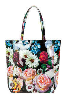 TED BAKER Oil painting print shopper bag