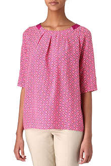 TED BAKER Geo-printed top