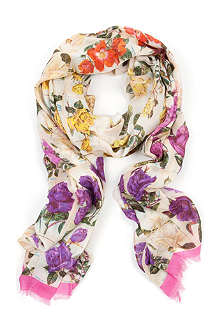 TED BAKER Roses in a row scarf