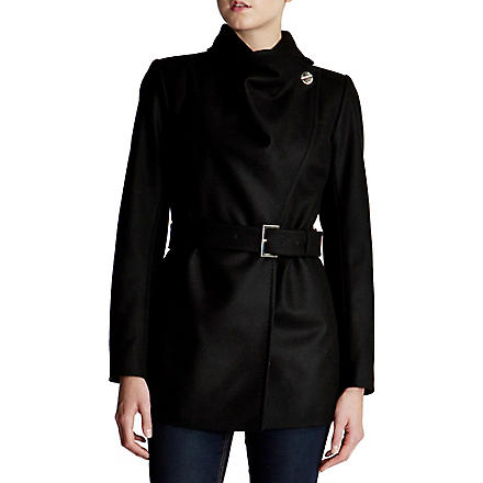 TED BAKER Adalya wool-blend coat (Black