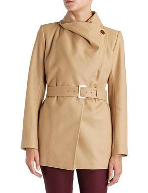 TED BAKER Adalya short drape jacket