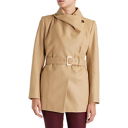 TED BAKER Adalya short drape jacket (Camel