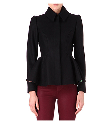 TED BAKER Sollel short peplum coat (Black