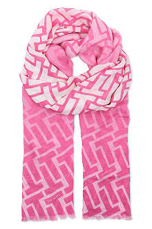 TED BAKER Graphic printed scarf