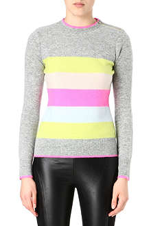 TED BAKER Reverse stripe wool-blend jumper