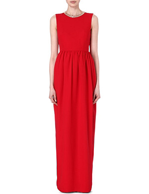 TED BAKER Beaded collar maxi dress