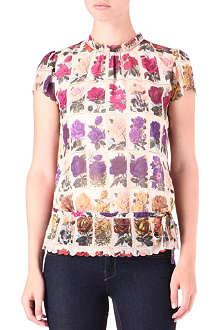 TED BAKER Roses in Row printed top
