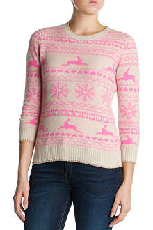 TED BAKER Fair Isle knitted jumper