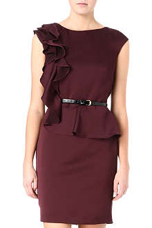 TED BAKER Shoulder frill dress