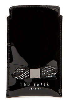 TED BAKER Metallic bow phone case
