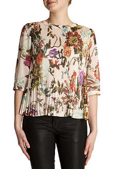 TED BAKER Roseyy floral pleated top