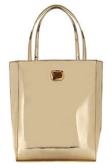 TED BAKER Metallic shopper bag