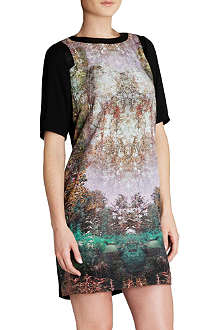 TED BAKER Atheena magical mystery-print dress