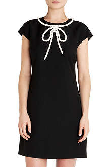 TED BAKER Beaded bow tunic dress