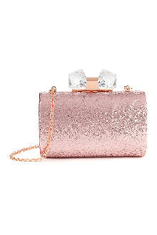 TED BAKER Glitter frame clutch bag