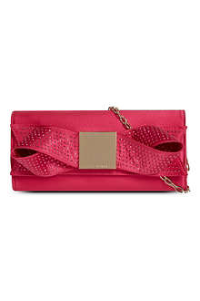 TED BAKER Satin bow clutch bag
