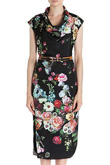 TED BAKER Robyne floral-print dress