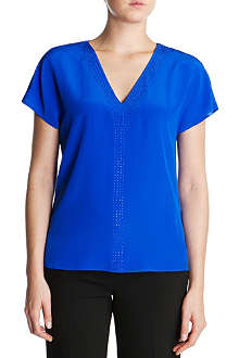 TED BAKER Embellished silk top