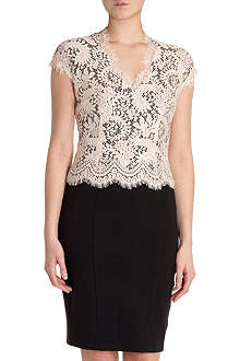 TED BAKER Sarvani lace bodice dress