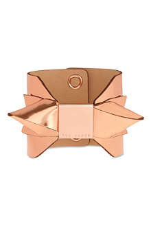 TED BAKER Mirrored bow leather cuff