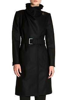 TED BAKER Madigan draped-front coat