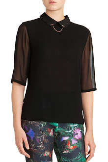 TED BAKER Iris chain-collar top