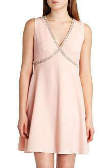 TED BAKER Caylin beaded cross front dress