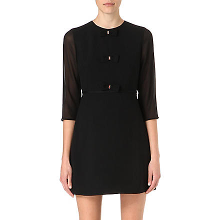 TED BAKER Finna bow detail dress (Black