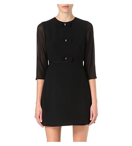 TED BAKER Finna bow detail dress (Black