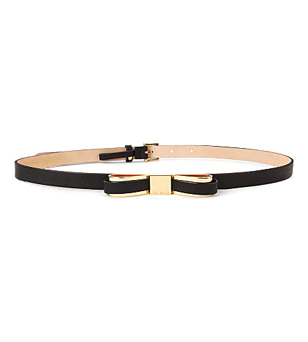 TED BAKER Bowun skinny bow belt (Black