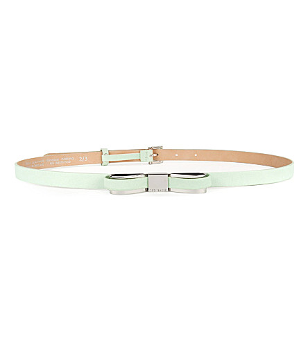 TED BAKER Bowun skinny bow belt (Jasmine