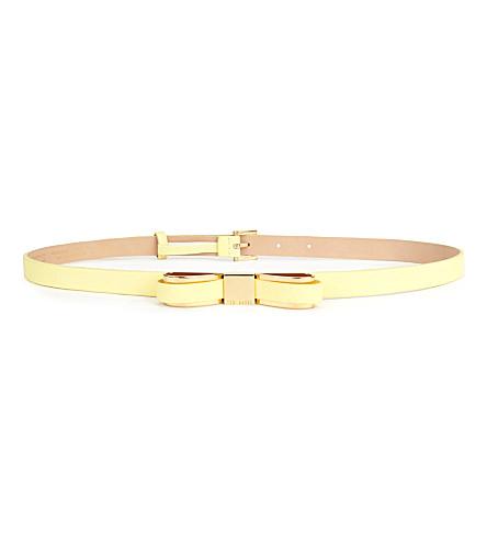 TED BAKER Bowun skinny bow belt (Lemon